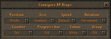 XP drop configuration