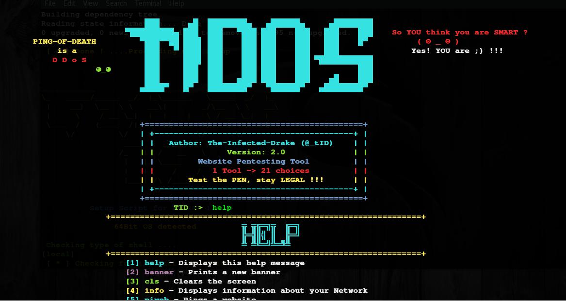 TIDoS-Framework : Wreb Penetration Testing Tool