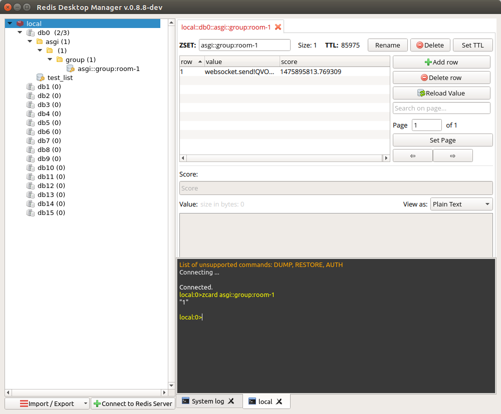 Redis Desktop Manager Screenshot