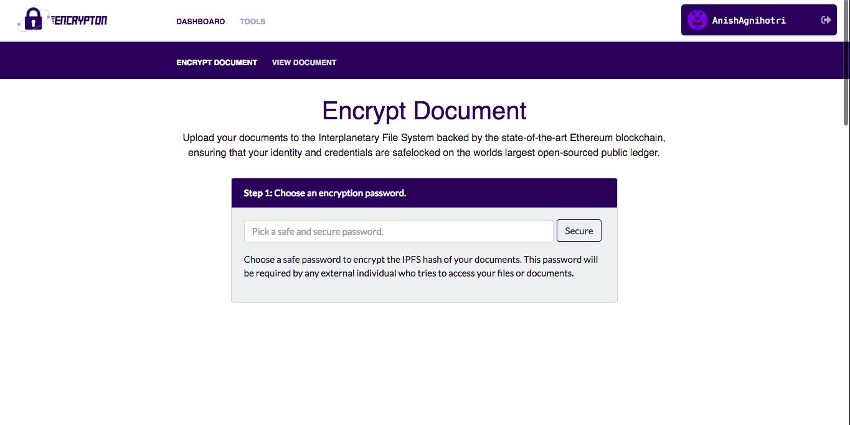 Encrypt Documents