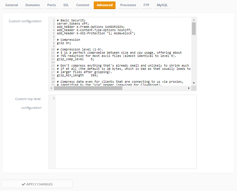 Setup Ajenti & PHP7 & NGINX · aalfiann/reSlim Wiki · GitHub