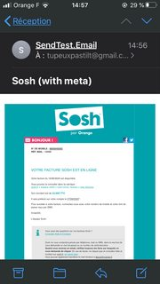Sosh email with meta