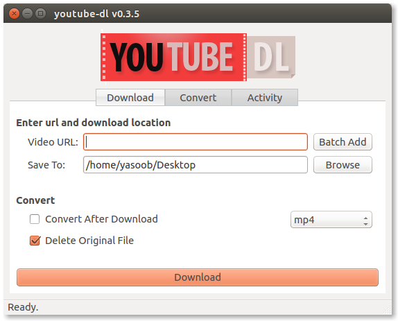 GitHub - yasoob/youtube-dl-GUI: This repository contains