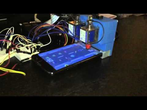 Raspberry Pi playing ZomBuster (slow motion)