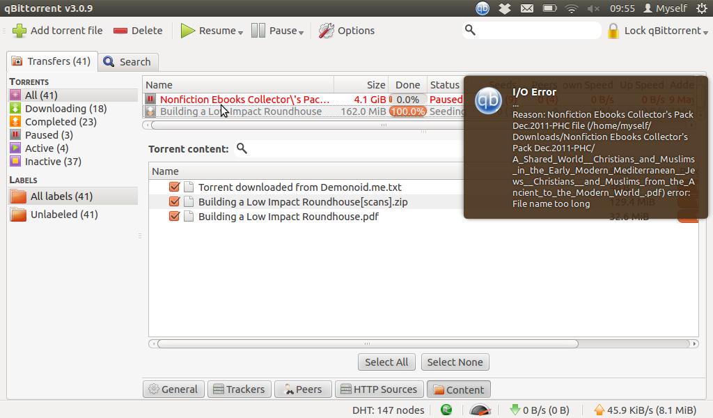 Recurring Folder causes I/O Error: Long Filename · Issue #638