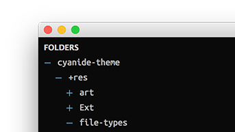 Sidebar folder icons Afterglow