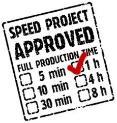 60 Minute SPEED PROJECT approved.