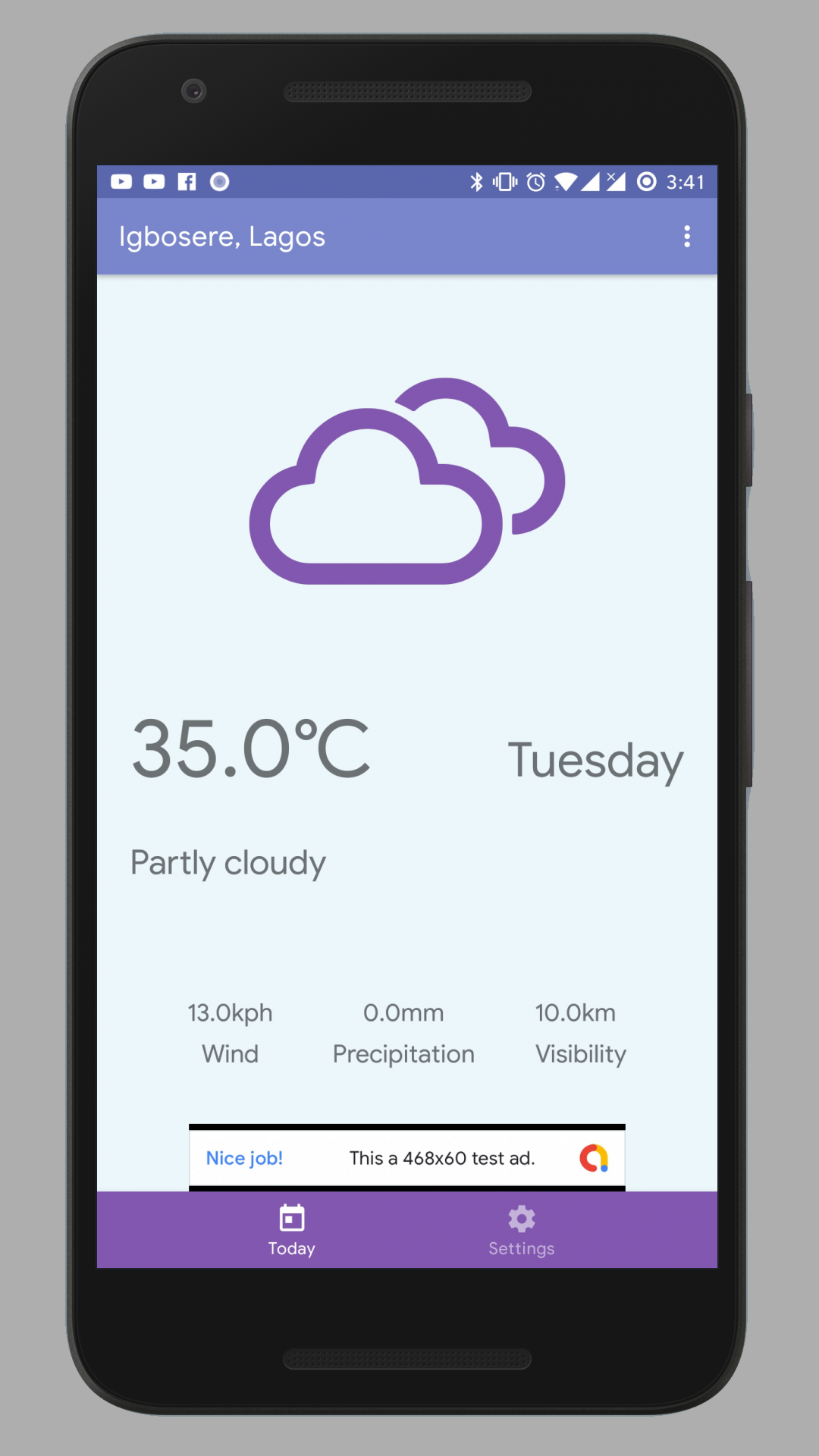 App displays real-time weather updates for user's location and for other locations set by user. App uses MVVM with Repository pattern, dagger dependency injection, NetworkBoundResource, Navigation component, App widget, Alarm manager, and other Android Je