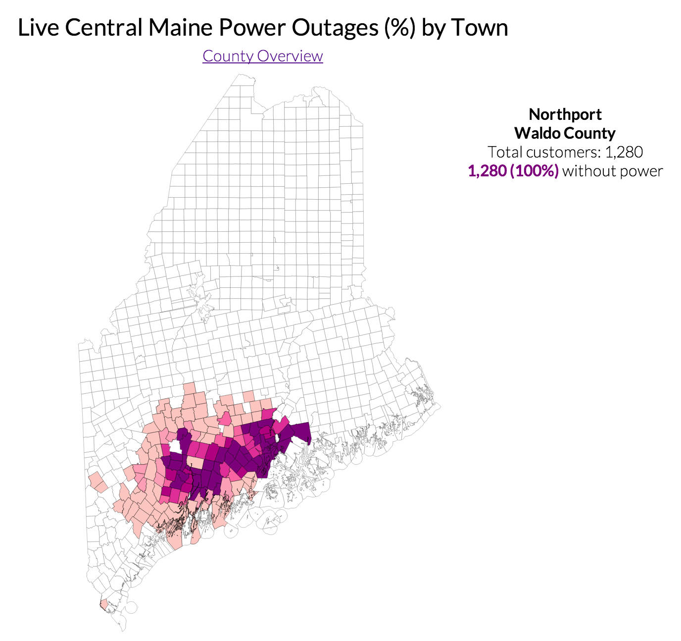 Graphing Maine Power Outages With D3 The Meta Refresh Is The Sub