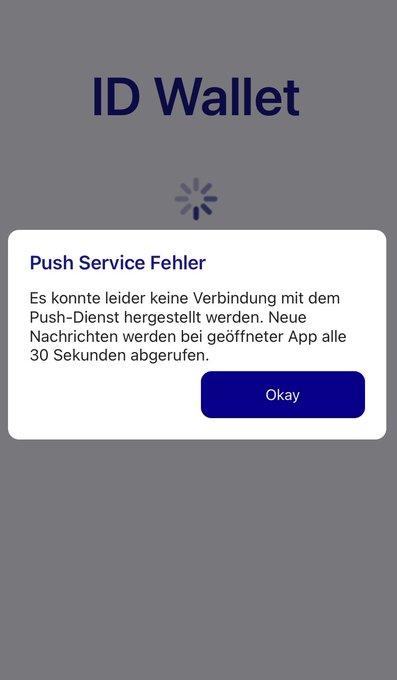 Push Service Fehler