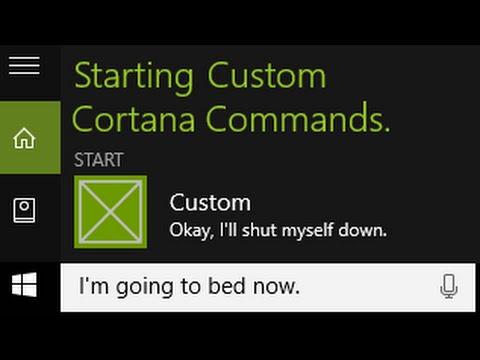 How to Create Custom Cortana Commands Tutorial