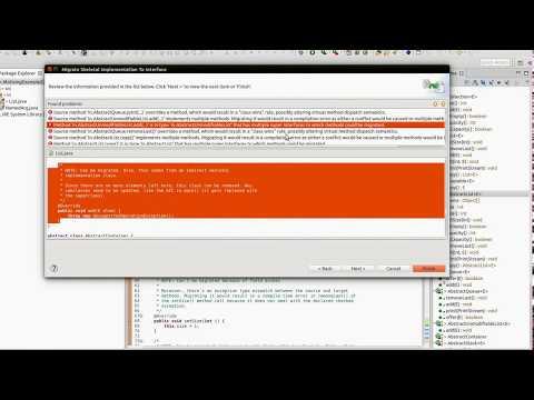 Video demo of refactoring tool