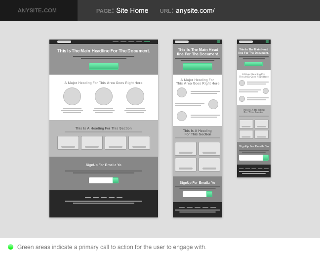 Bootstrap mobile template psd.