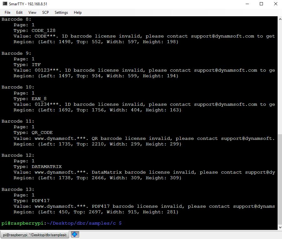 Raspberry Pi Barcode Reader