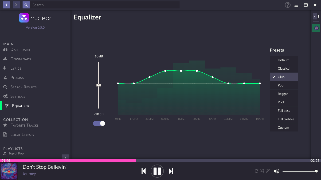 Equalizer View