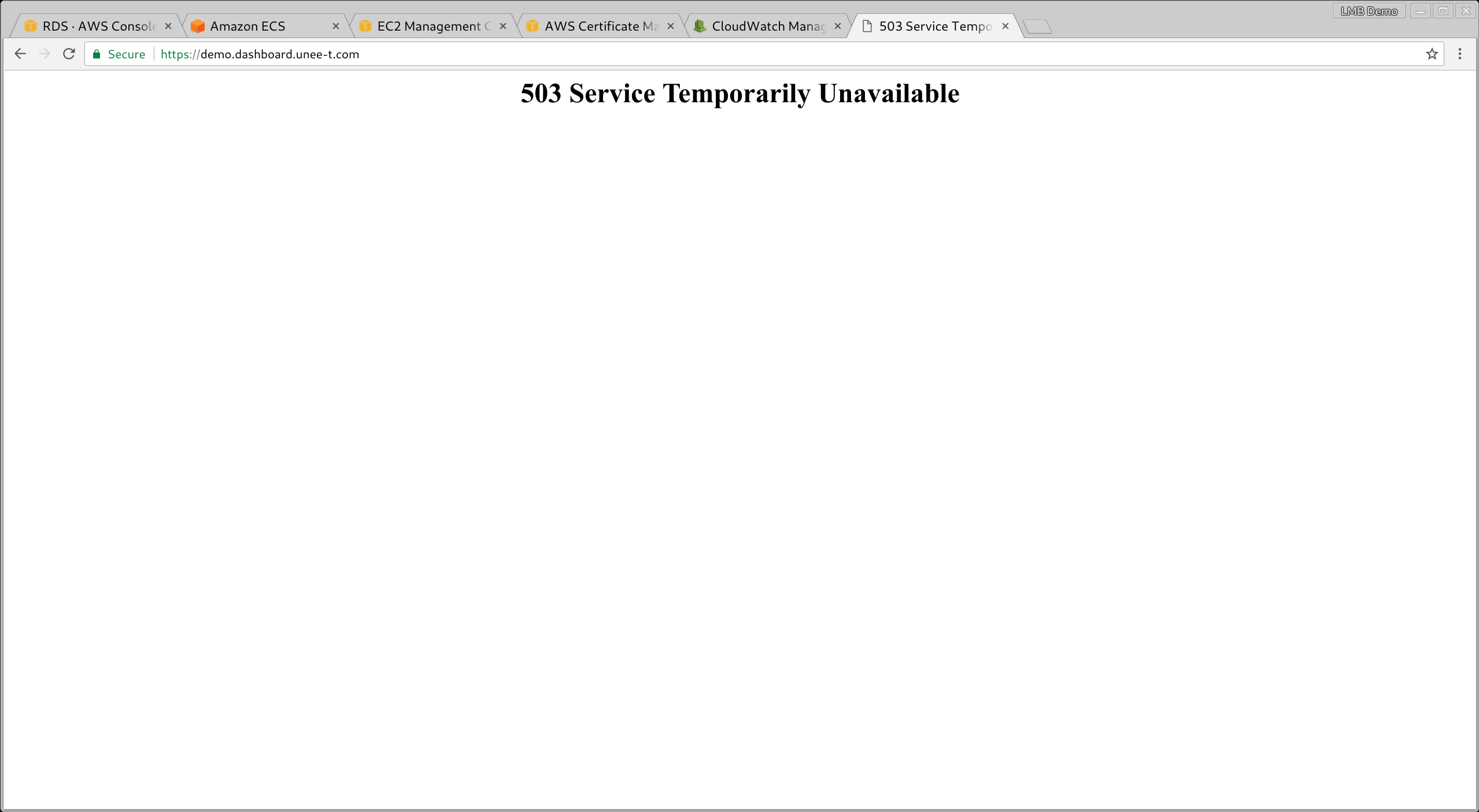 Better message than 503 Service Temporarily Unavailable · Issue #45
