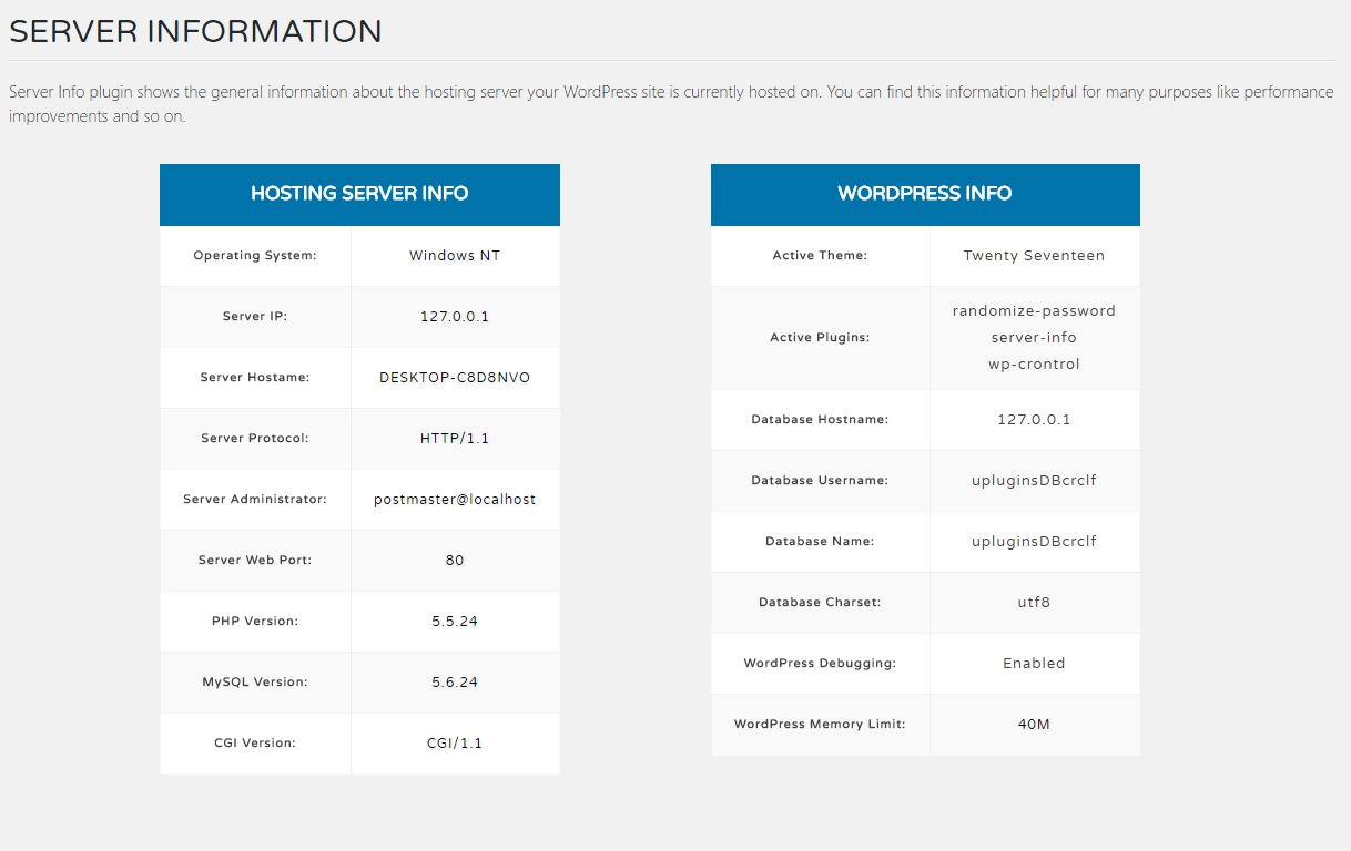 Server Info Screenshot 2
