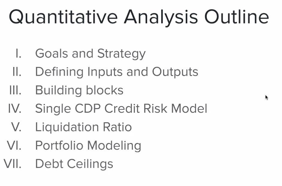Quantitative Analysis Outline