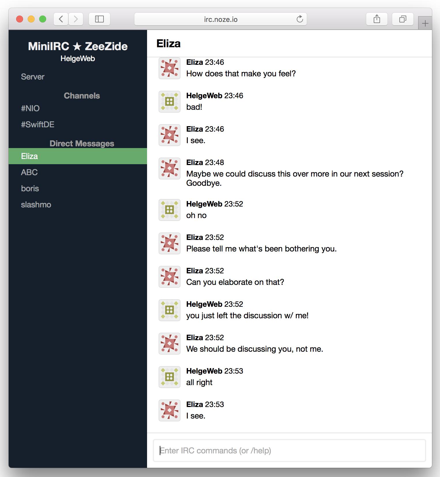 GitHub - NozeIO/swift-nio-irc-server: A Internet Relay Chat (IRC ...