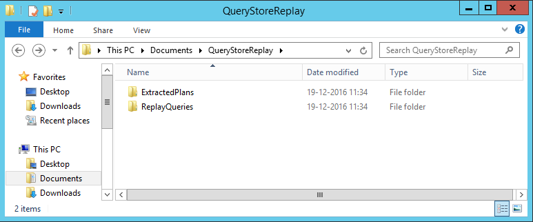 Query Store Replay folders