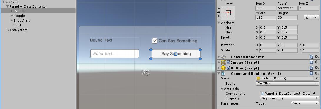 CommandBinding to POCO DataContext example