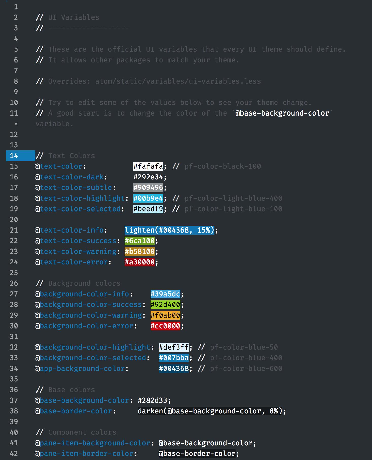 PatternFly UI - Editor w/Syntax