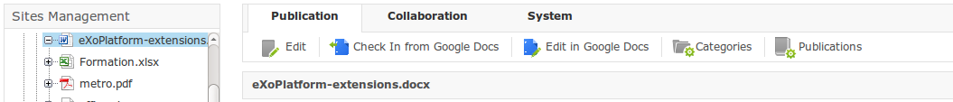 Checkin from Google Docs