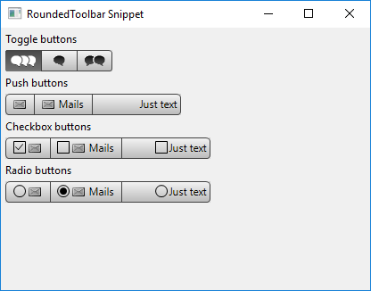 Rounded Toolbar