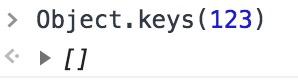 Object.keys(123)