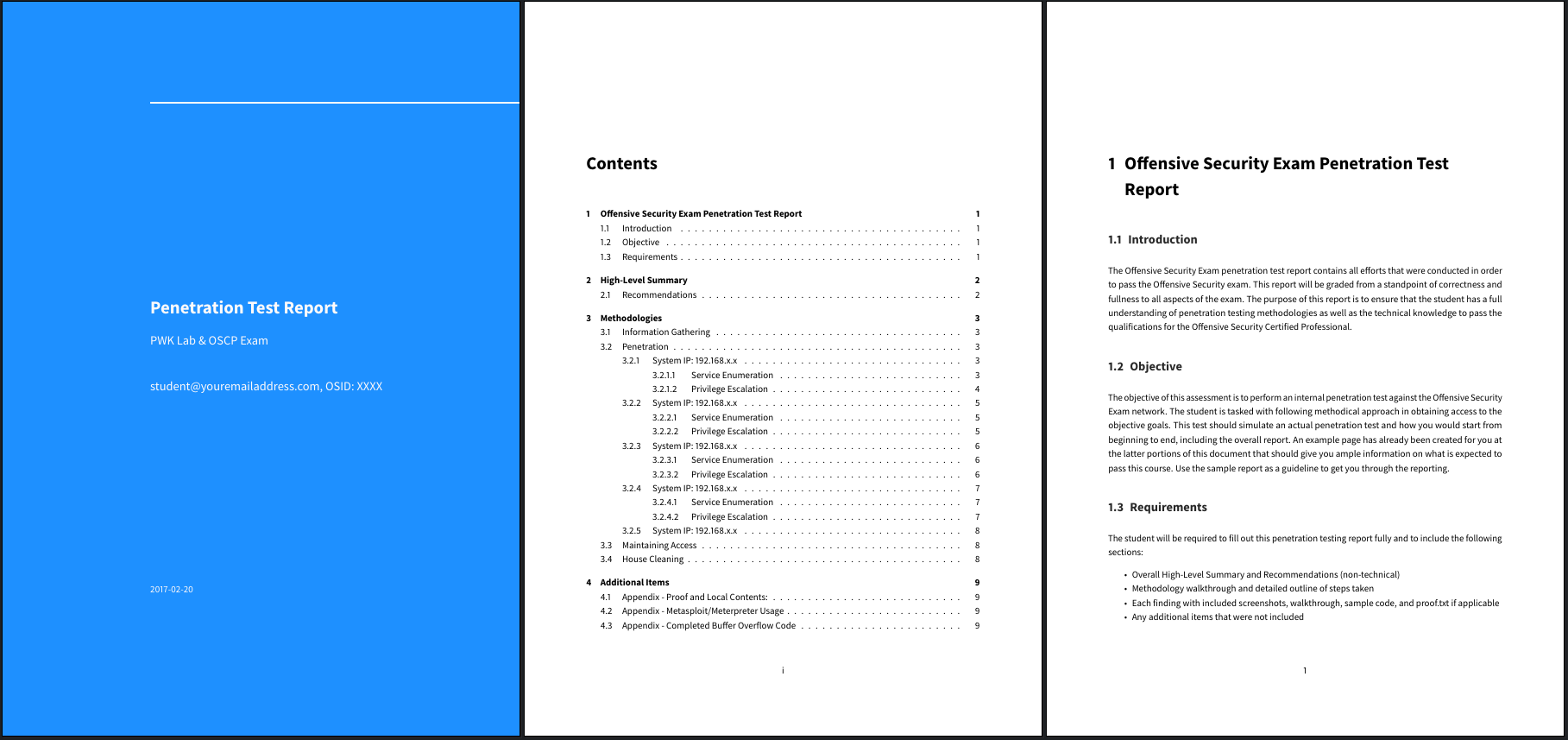 OSCP Exam Report Template in Markdown
