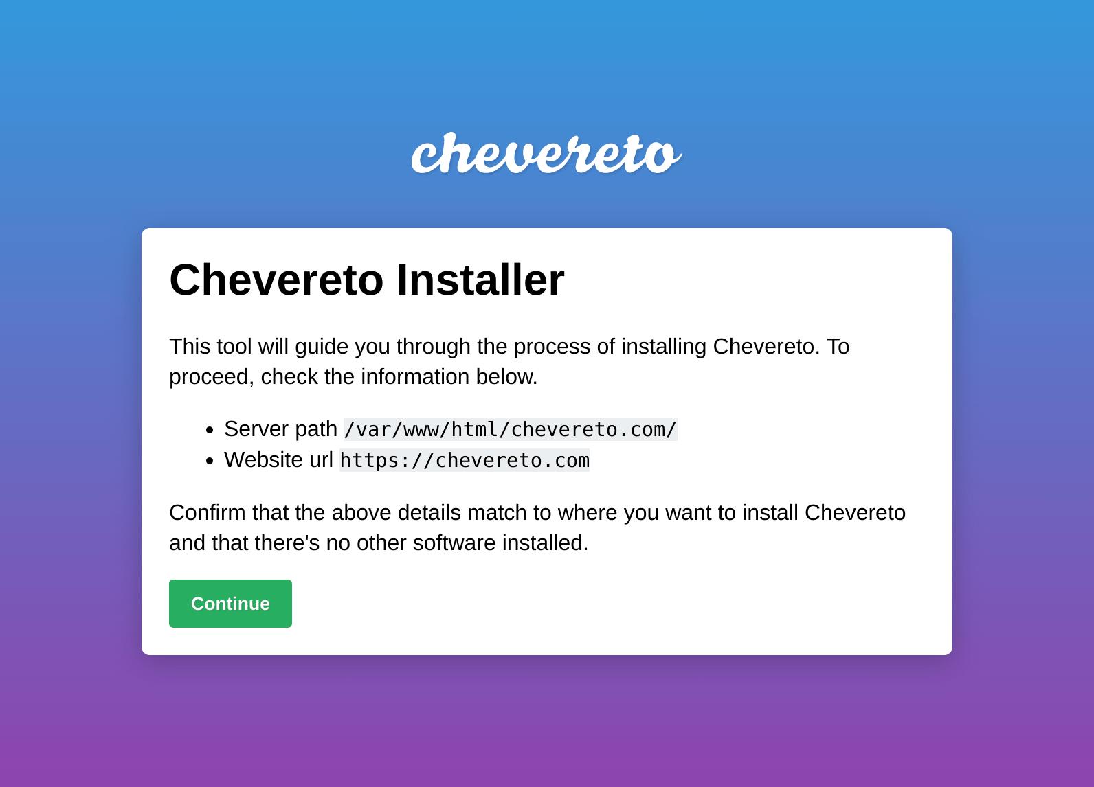 Chevereto Installer