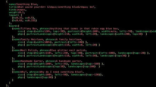 JSON syntax coloring