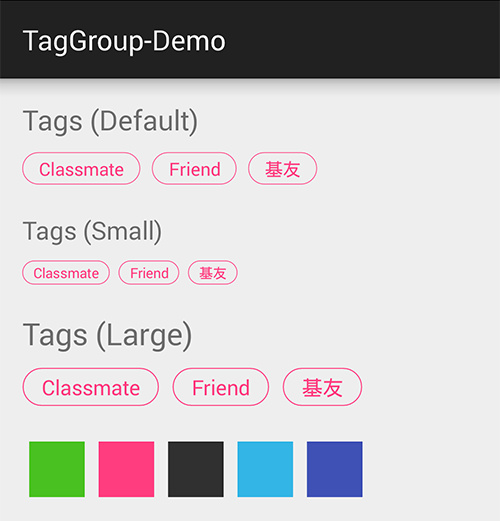 AndroidTagGroup