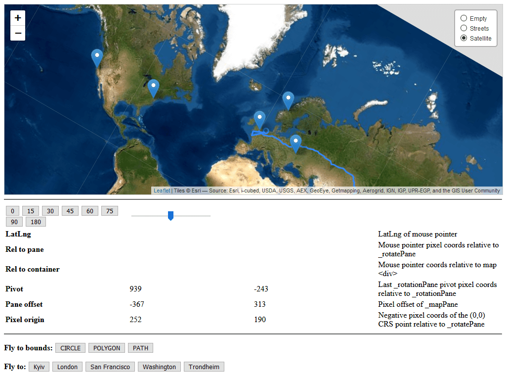 Leaflet rotate viewer