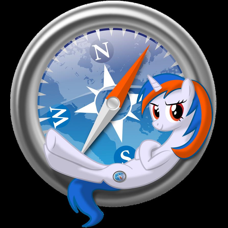 Safari browser pony logo