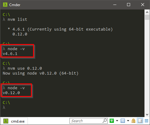 Switch between stable and unstable versions.