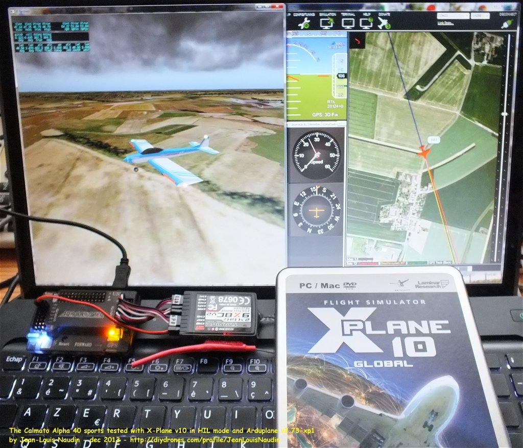 X PLANE TUTORIAL: X Plane v10 with ArduPlane v2 73 xp1 in HIL mode