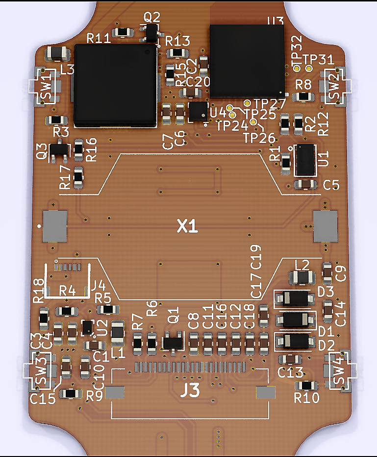 Image of PCB rendering