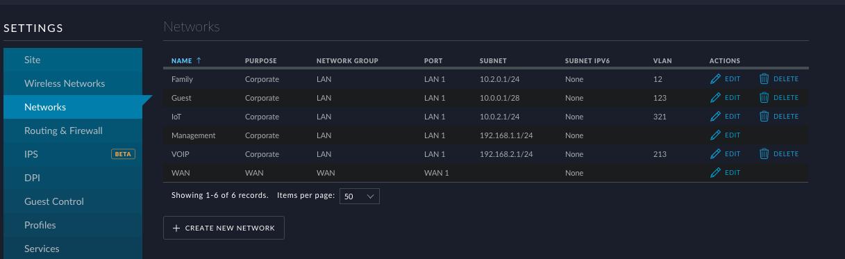 Subnet configuration