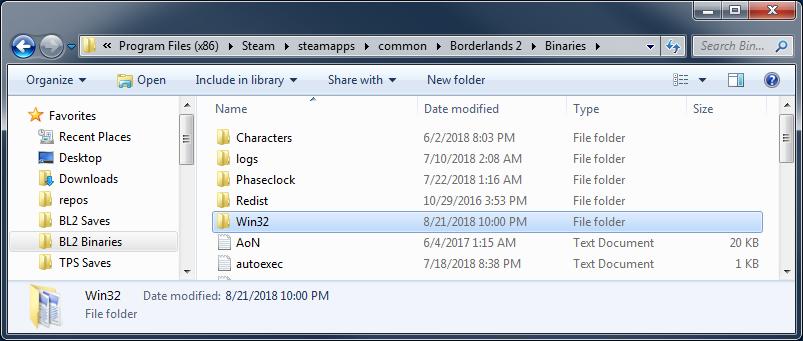 Borderlands 2 files