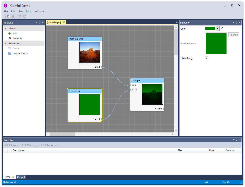 Screenshot - Blue theme