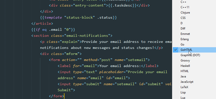 Go Html Template Syntax Highlighting For Sublime Text Github