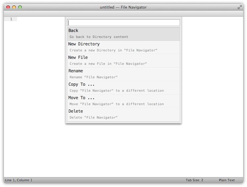 Navigator - Directory Actions