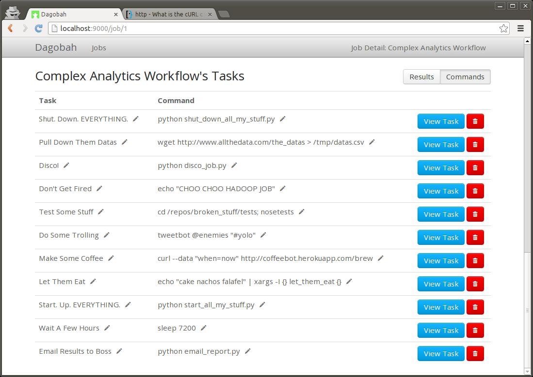 GitHub - thieman/dagobah: Simple DAG-based job scheduler in Python