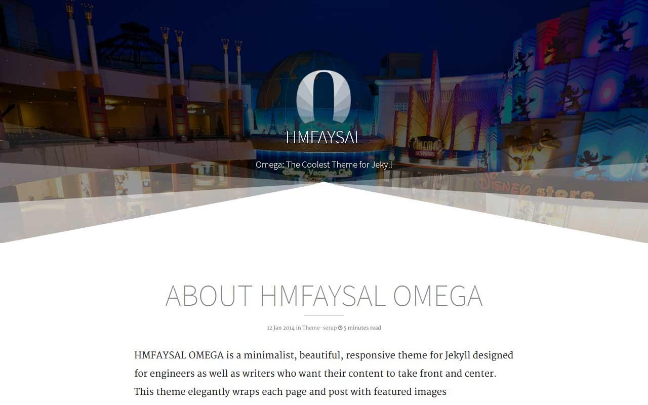 screenshot of HMFAYSAL OMEGA Theme