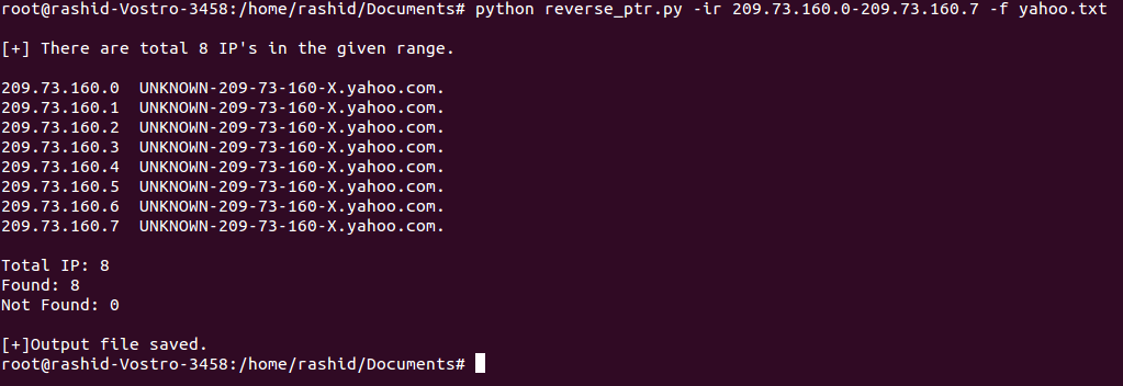 GitHub - g33kyrash/mass-reverse-dns: It can do reverse dns lookups
