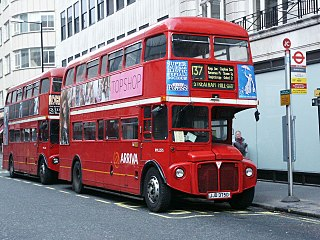 A photo of a Routemaster bus