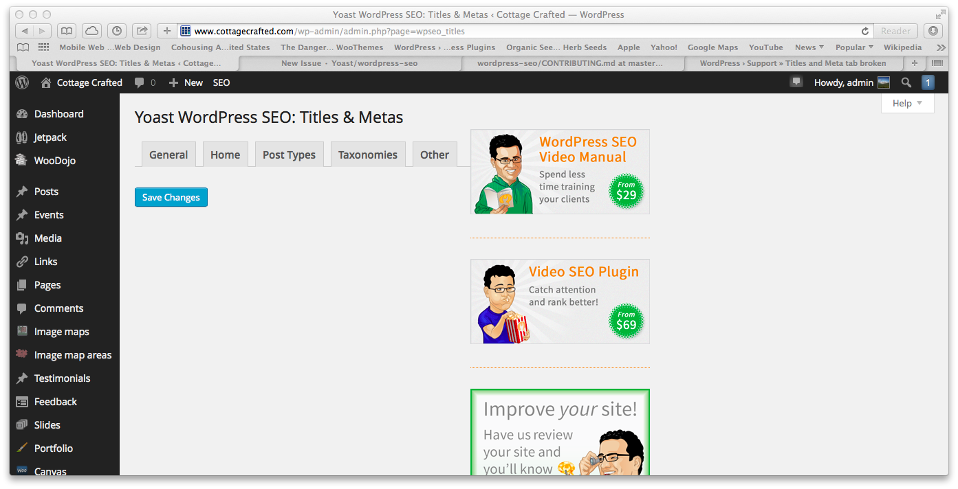 titles and meta tab broken issue 483 yoast wordpress seo github