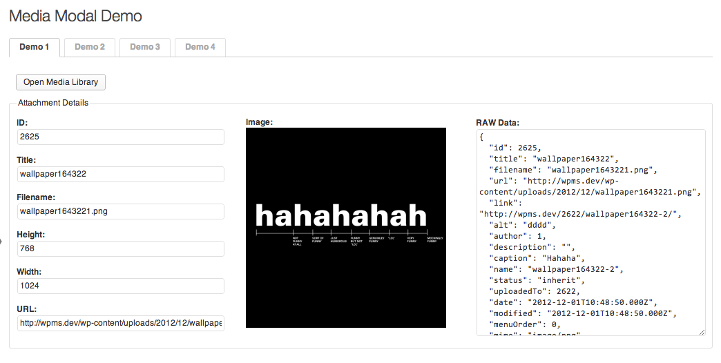 Screenshot of the plugin
