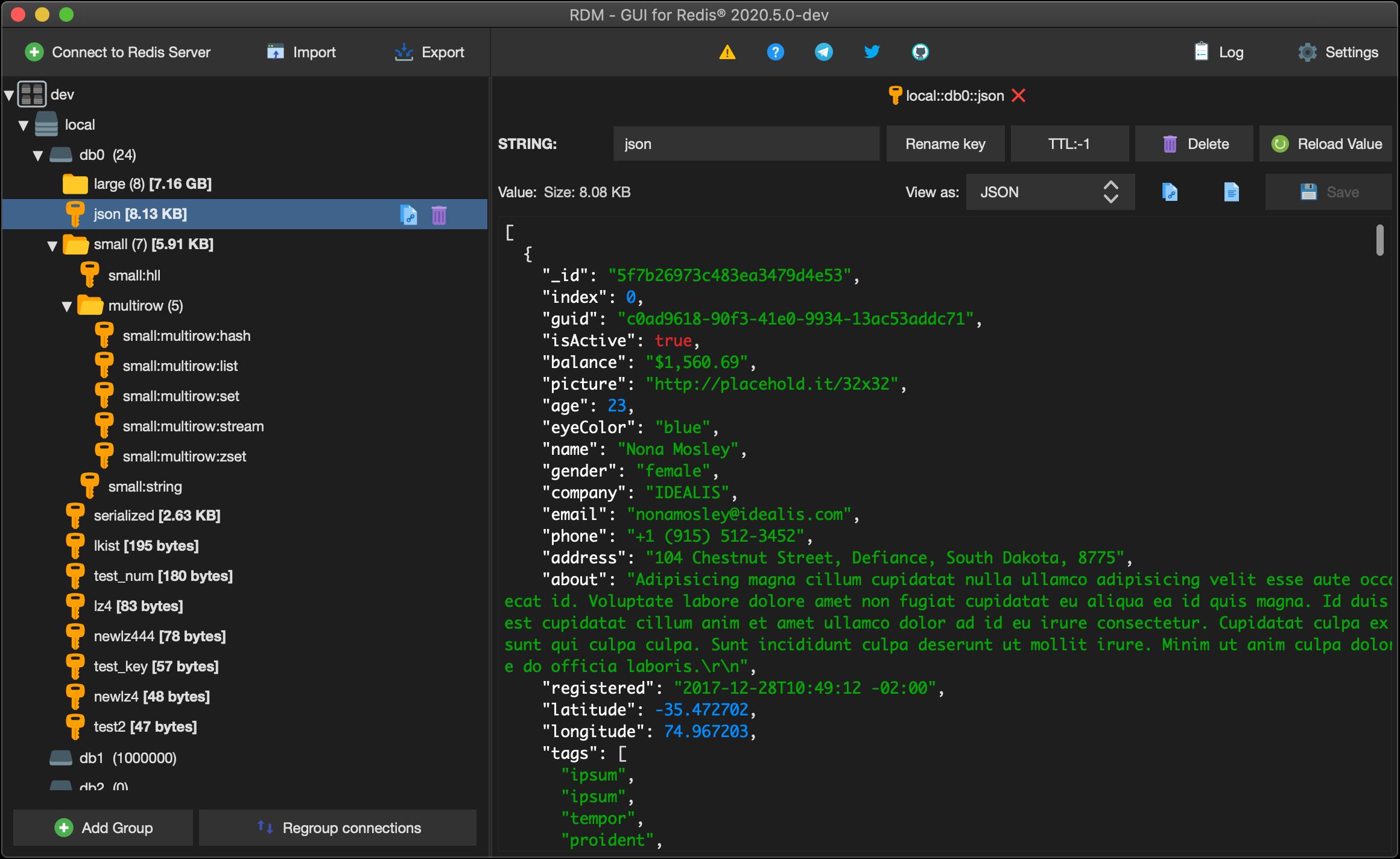 RDM screenshot